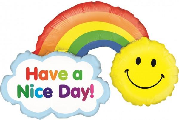 "Betallic Folienballon Mini Have a Nice Day Rainbow 35cm/14"""
