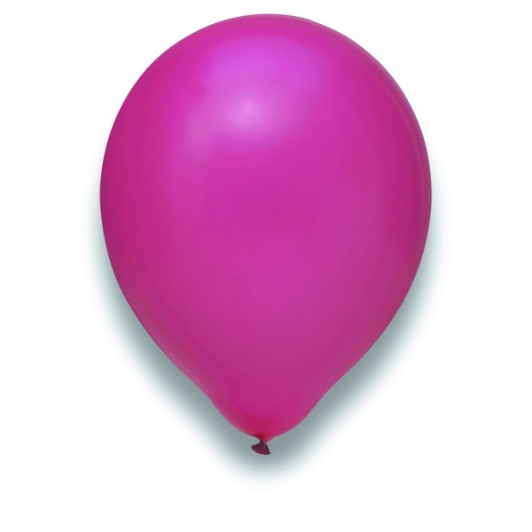 Globos Luftballons 100er Packung 30cm Durchmesser Magenta Naturlatex