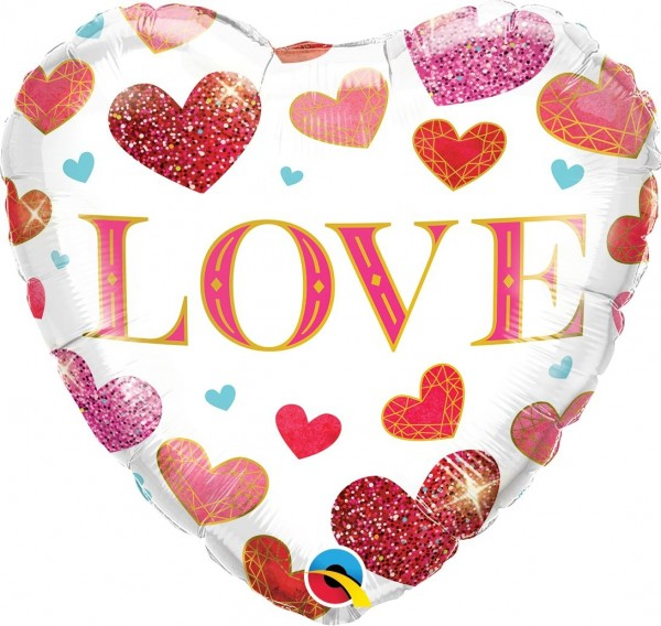 "Qualatex Folienballon ""Love"" 46cm/18"""