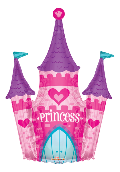"Kaleidoscope Folienballon XXL ""Princess - Pinkes Schloss"", 36"""