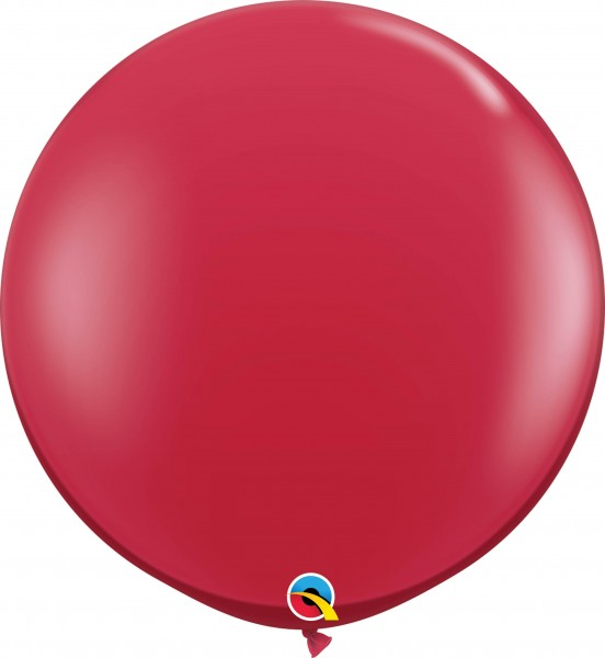 Qualatex Latexballon Jewel Ruby Red 90cm/3' 2 Stück