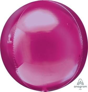 Anagram Folienballon Orbz 40cm Durchmesser Magenta (Bright Pink)