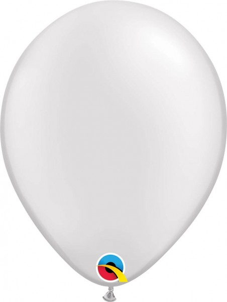 "Qualatex Latexballon Pastell Pearl White 28cm/11"" 100 Stück"