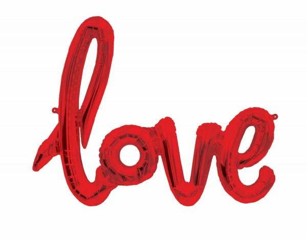 """Northstar Folienballon Love Script Red 40"""""""
