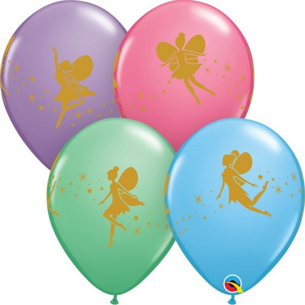 "Qualatex Latexballon Fairies & Sparkles Special Assorted 28cm/11"" 25 Stück"