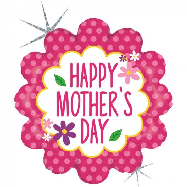 "Betallic Folienballon Flower Garden Mothers Day Holo 45cm/18"""