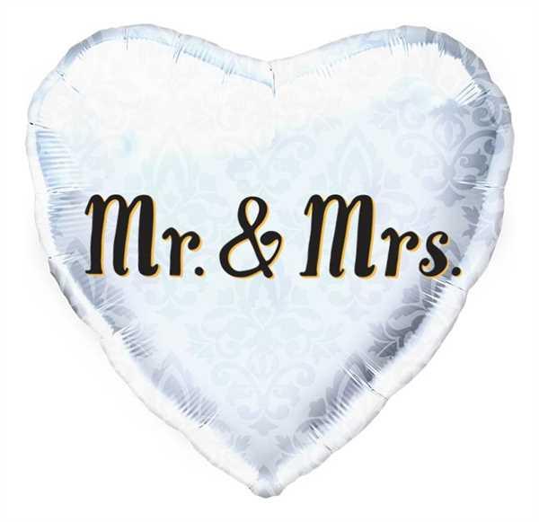 "Northstar Folienballon Mr. & Mrs. Heart 18"""