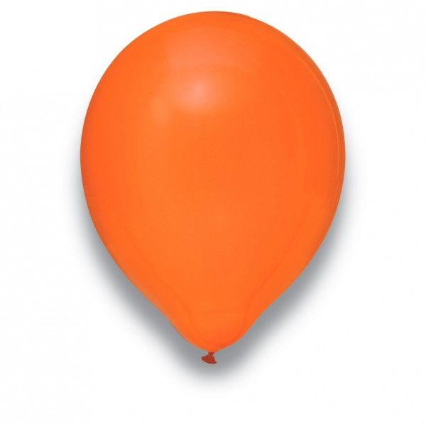 Globos Luftballons 100er Packung 30cm Durchmesser Orange Naturlatex