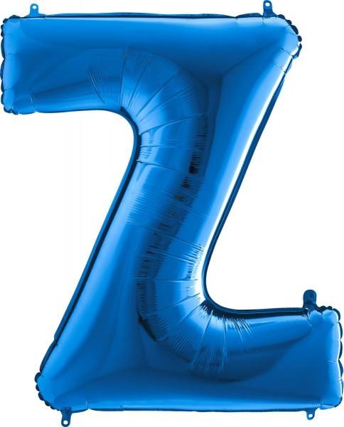 "Grabo Folienballon Buchstabe Z Blue 100cm/40"""