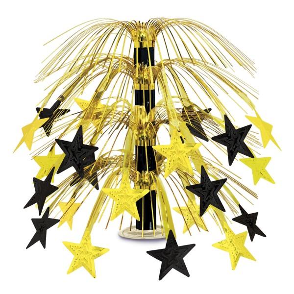 Beistle Sternen-Kaskade Centerpiece Schwarz & Gold