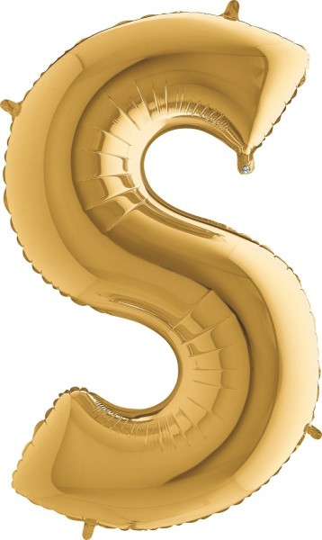 "Grabo Folienballon Buchstabe S Gold 100cm/40"""