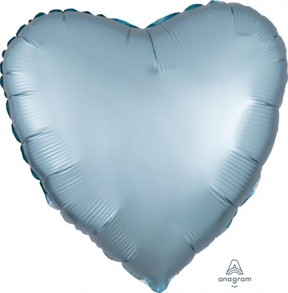 "Anagram Folienballon Herz Satin Luxe Pastel Blue 45cm/18"""