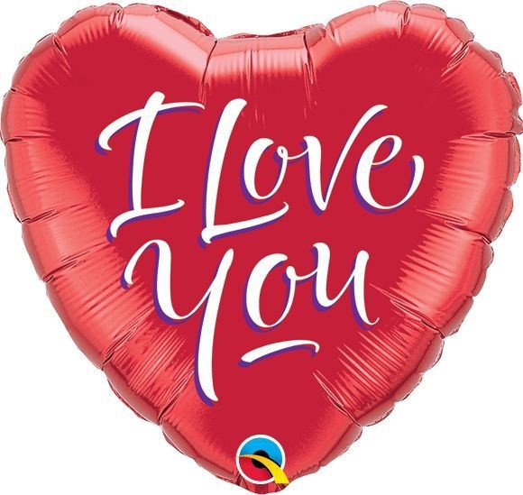 Qualatex Folienballon I Love You Script Heart 23cm/9""