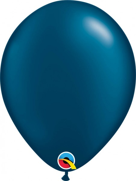 "Qualatex Latexballon Radiant Pearl Midnight Blue 28cm/11"" 100 Stück"