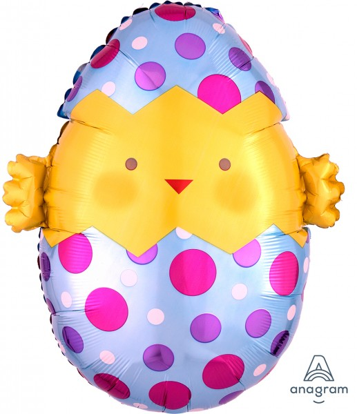 """Anagram Folienballon Chick Egg 45cm/18"""""""