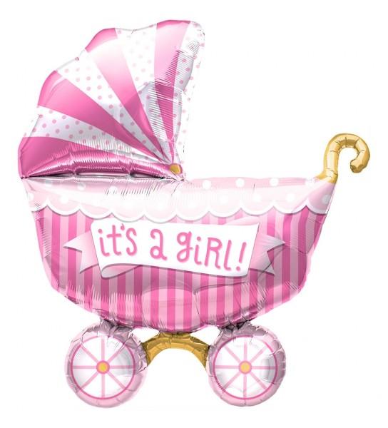 "Northstar Folienballon It's A Girl Buggy 14"""