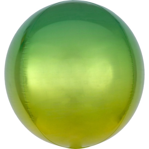 Anagram Folienballon Orbz Ombré Yellow & Green 40cm/16""
