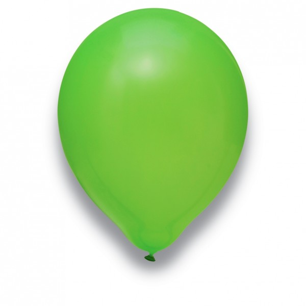 Globos Luftballons 100er Packung 30cm Durchmesser Limongrün Naturlatex