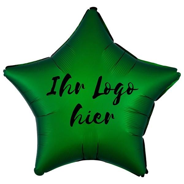 """Folien-Werbeballon Stern Satin Luxe Emerald 50cm/20"""" 1-Seitig bedruckt"""