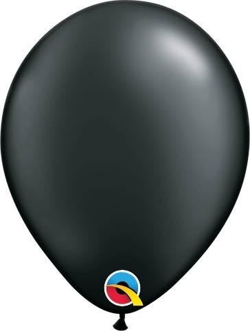 "Qualatex Latexballon Radiant Pearl Onyx Black 13cm/5"" 100 Stück"