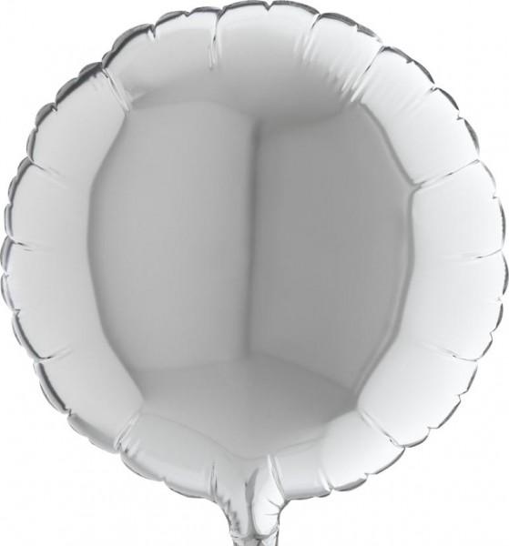 """Grabo Folienballon Round Silver 23cm/9"""""""
