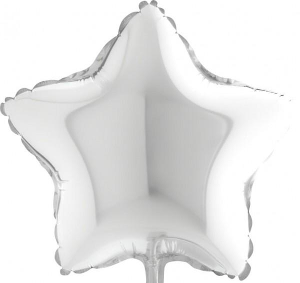 "Grabo Folienballon White Star 23cm/9"""
