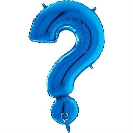 """Grabo Folienballon Blau 100cm/40"""" Zeichen ?"""
