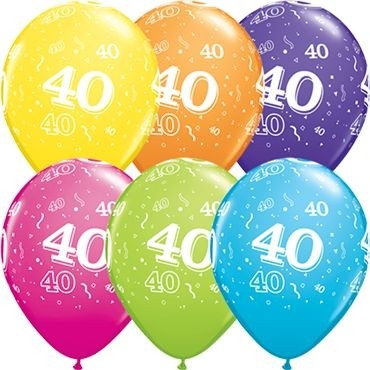 "Qualatex Latexballon 40-A-Round Tropical Assortment 28cm/11"" 25 Stück"