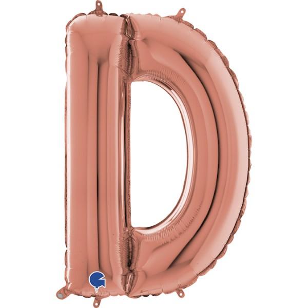 """Grabo Folienballon Buchstabe D Rose Gold 100cm/40"""""""