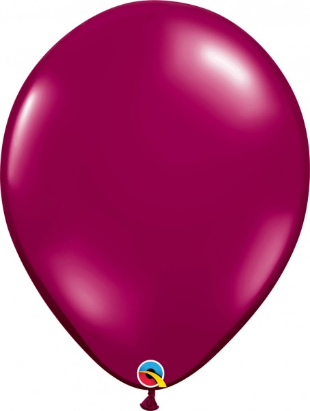 "Qualatex Latexballon Jewel Sparkling Burgundy 40cm/16"" 50 Stück"