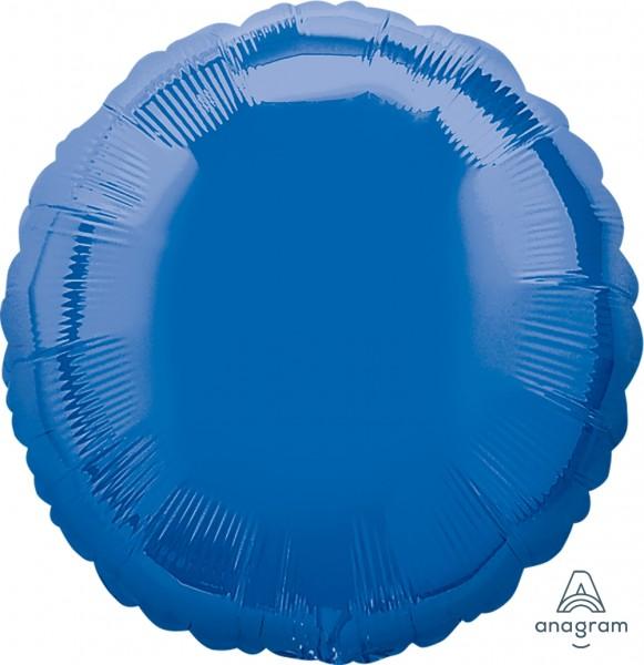"""Anagram Folienballon Rund Dark Blue 45cm/18"""""""