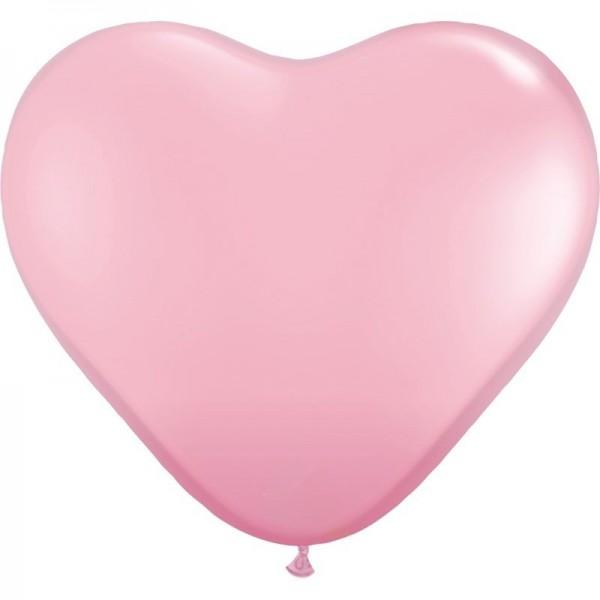 """Globos Herzballons Rosa 35cm/14"""" 100er Packung"""