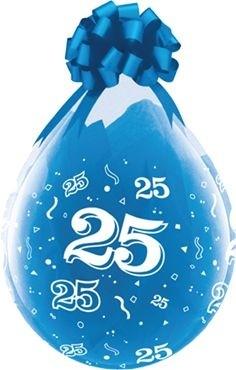 "Qualatex Verpackungsballon 25 Crystal Diamond Clear 45cm/18"" 25 Stück"