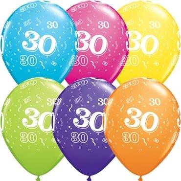 """Qualatex Latexballon 30-A-Round Tropical Assormnet 28cm/11"""" 25 Stück"""