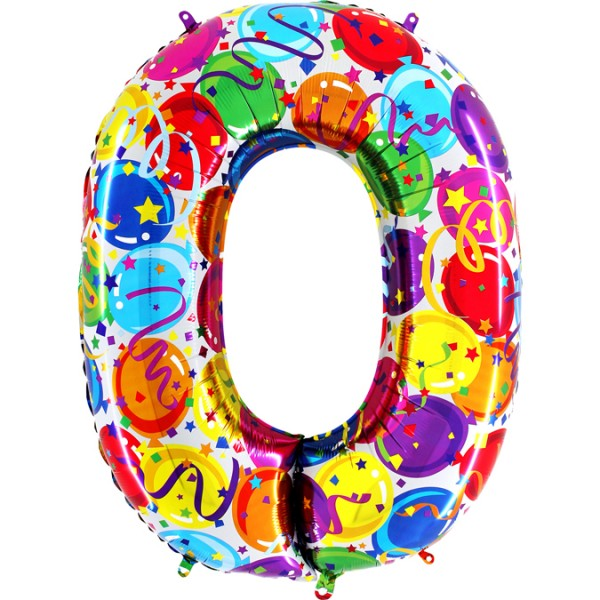 "Grabo Folienballon Zahl 0 Party 100cm/40"""