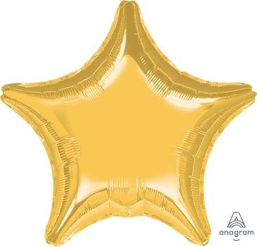 Anagram Folienballon Stern 80cm Metallic Gold