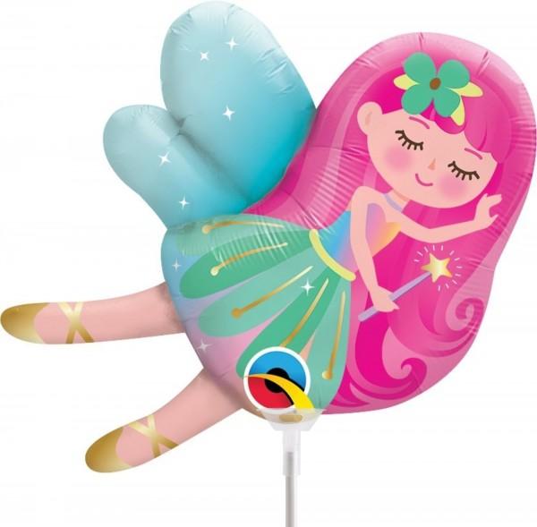 """Qualatex Folienballon Mini Fairy 36cm/14"""" luftgefüllt inkl. Stab"""