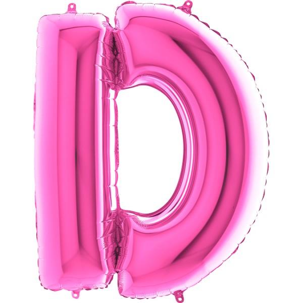 "Grabo Folienballon Buchstabe D Fuxia 100cm/40"""