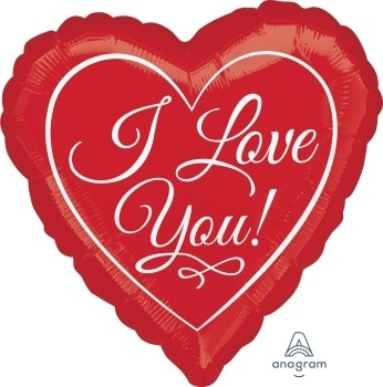 Anagram Folienballon Herz I Love You 45cm/18""