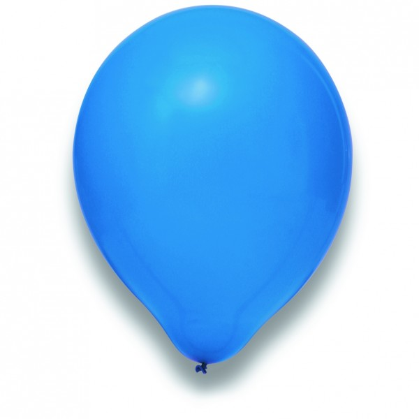 "Globos Luftballons Blau Naturlatex 30cm/12"" 100er Packung"