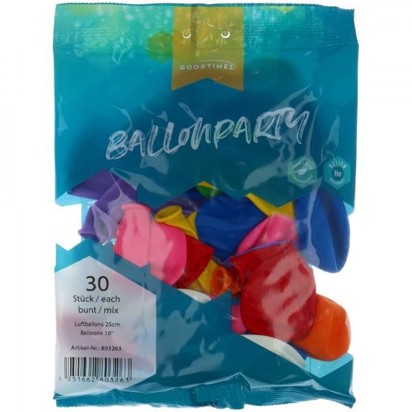 "Goodtimes Latexballon Rund Pastel Mix 25cm/10"" 30 Stück"