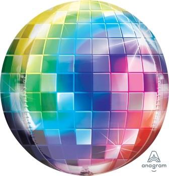 Anagram Folienballon Orbz 40cm Durchmesser Disco Ball