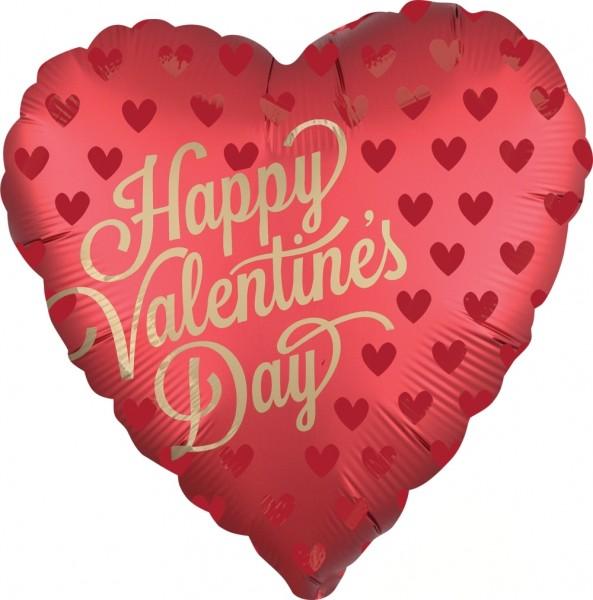"""Anagram Folienballon Happy Valentine's Day 23cm/9"""" Sangria"""