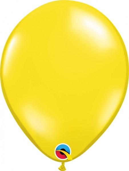 "Qualatex Latexballon Jewel Citrine Yellow 28cm/11"" 100 Stück"