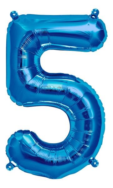 "Northstar Folienballon Zahl 5 Blue 16"""