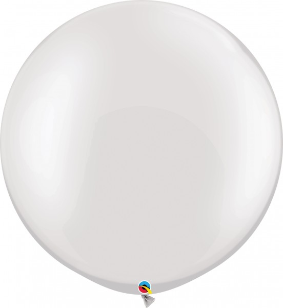 "Qualatex Latexballon Pastel Pearl White 75cm/30"" 2 Stück"