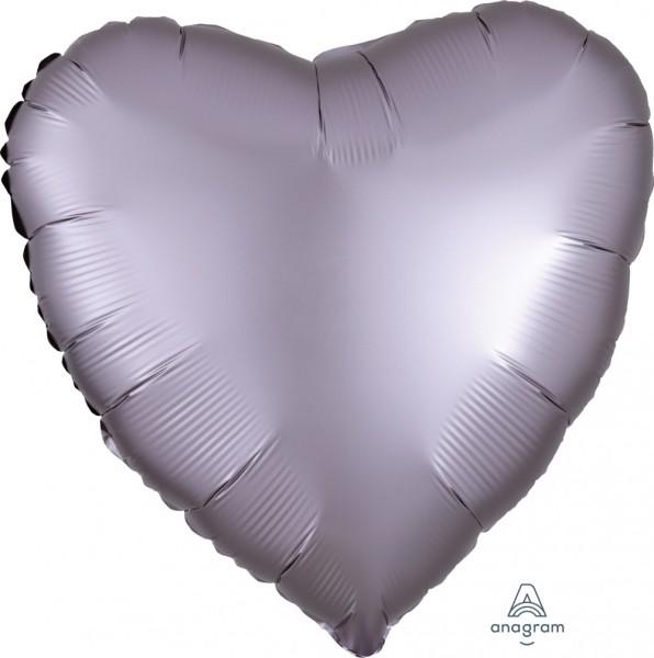 """Anagram Folienballon Herz Satin Luxe Greige 45cm/18"""""""