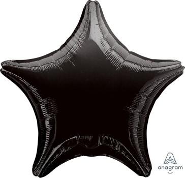 "Anagram Folienballon Stern Schwarz (Black) 20"""