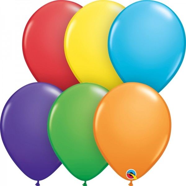 "Qualatex Latexballon Bright Rainbow Assortment 13cm/5"" 100 Stück"