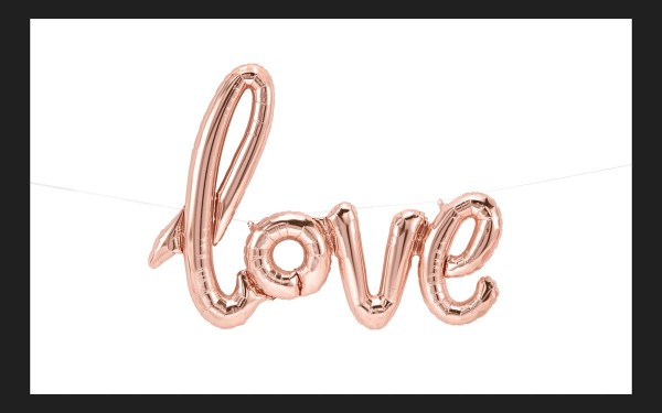 Northstar Folienballon Love Script Rose Gold 40""